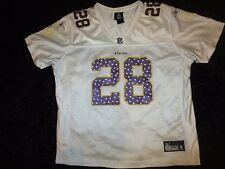 Minnesota Vikings #28 Peterson Reebok NFL Jersey Womens 2XL XXL