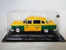 Miniature IXO Véhicule Altaya Taxi du Monde CHECKER San Francisco 1980 Diecast