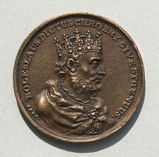 BOLESLAUS I POLAND  BRONZE CAST MEDAL 18TH CENTURY