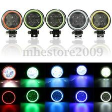 Round  LED Work Light 4D Spot Beam Offroad Driving Fog Lamp Truck ATV 12W