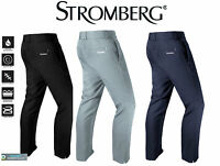Stromberg Mens Harrogate Classic Tapered Golf Trousers Water Resistant Pants