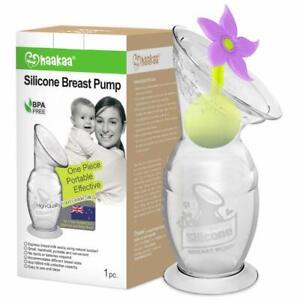 Haakaa Breast Pump 90ml Flower Stopper Food Grade Silicone BPA PVC Gen 1 Baby W
