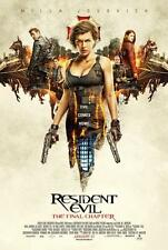 "RESIDENT EVIL THE FINAL CHAPTER - 11""x17"" Original Promo Movie Poster MINT 2017"