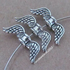 20pc Retro Tibetan Silver Angel wings Spacer Beads Accessories wholesale  PL048