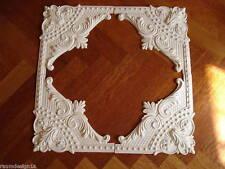 Stuckrosette 102-529a  -Stuck PerlenBarock Rosette aus 4 Eckdekoren, Wandspiegel