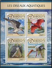 DJIBOUTI 2017 AQUATIC BIRDS  SHEET MINT NH