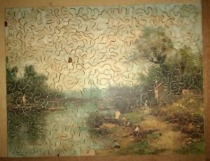Vintage Wooden Jigsaw Puzzle A Street in Venice 270 Heavenrich's Outfitters MI