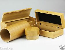 Sunglasses Glasses Hard Case 100% Natural Bamboo Wood Chest