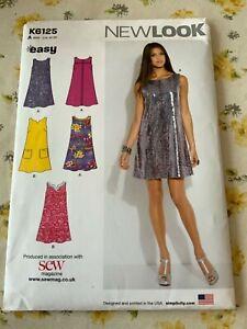 NEWLOOK K6125 Ladies Easy Sewing Dress Pattern US10-22 UNCUT