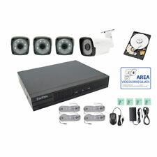 KIT VIDEOSORVEGLIANZA IP POE 4 CANALI NVR 2 MPX H264 CLOUD HD 500 GB