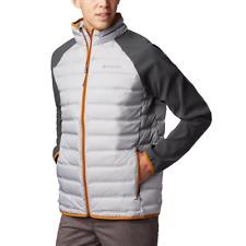 Men's Columbia Lake 22 Hybrid Heat Seal 650-Fill Down Jacket Gray Large