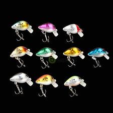 10pcs Fishing Lures Minnow Fish Bass Tackle Hooks Bait Crankbait Wobbler Toy Kid