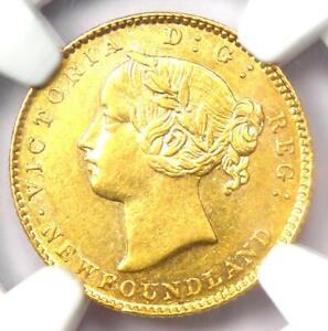 1885 Canada Newfoundland Victoria Gold $2 Coin - Certified NGC AU58 - Rare Coin!