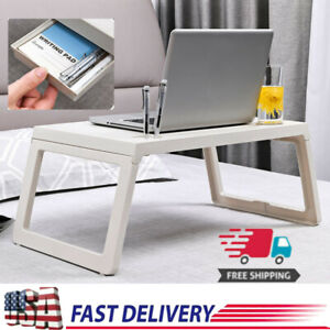Ulrlight Laptop Table Cup Pen Holder Breakfast Desk Bed Tray W/Drawer Fokdable