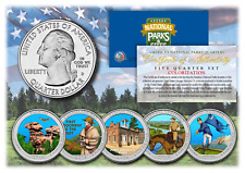 2016 America The Beautiful COLORIZED Quarters U.S. Parks 5-Coin Set w/Capsules