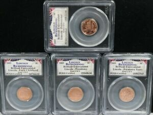 2009 1C Lincoln Bicentennial Early Childhood Formative Yrs Presidency PCGS 4SET