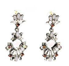 Clear Gemmed Dangling Earrings Exquiste Anthropolo​​gie Celestiel Glint