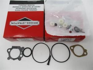 2 Genuine 498260 122K00 Briggs & Stratton Carburetor Overhaul Kit Rebuild