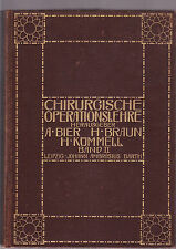 CHIRURGISCHE OPERATIONSLEHRE : BAND II - BIER et al  German surgical text 1912