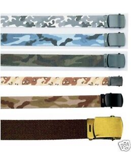 Rothco 4187/4278 Reversible Web Belts- 44 Inch Or 54 Inch 6 Colors Avail