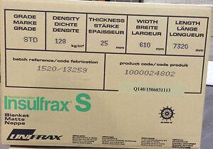 """CERAMIC FIBRE BLANKET ALTERNATIVE """"LTX"""" BLANKET BODY SOLUBLE 25x128kg/m3 (71325)"""