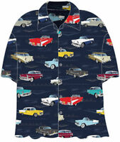 CHEVY TRI-5 1950s HAWAIIAN CAMP SHIRT - David Carey Originals - BRAND NEW!