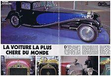 PUBLICITE ADVERTISING 044 1982 BUGATI coupé Napoléon plus belle voiture (2 pages