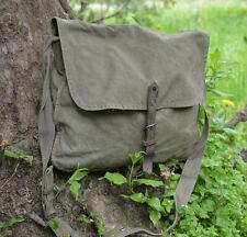 Distressed canvas bag Vintage army canvas bag Messenger bag Green khaki bag