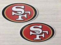 2x San Francisco 49ers Car Window Bumper Laptop Wall Vinyl Stickers Decals