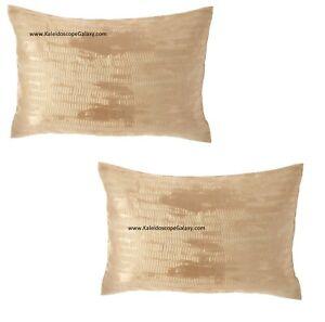 Donna Karan Vapor Gold 2 x King Pillow Shams Vapor Gold Brand NEW