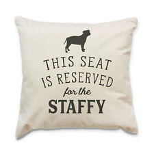 NEW - RESERVED FOR THE STAFFY - Cushion Cover - Dog Gift Present Xmas