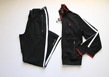 Polo Ralph Lauren Full Zip Track Jacket and Pant Set in Size Large in Black