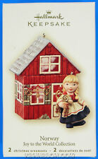 Joy to the World Collection Norway 2 Hallmark Keepsake Christmas Ornaments 2007