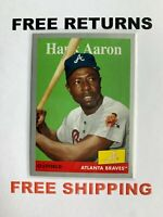 2019 Topps Archives Silver Parallel #D /99 Card #78 Hank Aaron Atlanta Braves