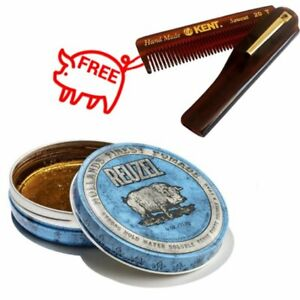 Reuzel Blue Pig Water Soluble Pomade Strong Hold High Shine 113g + Gift