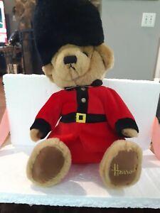 "Harrods Plush Knightsbridge Guard 14"" Queens Palace Teddy Bear England EUC"