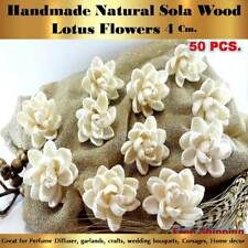 50 HANDMADE LOTUS Sola Flowers Diffuser Craft Wedding Bouquet Natural Decor NEW