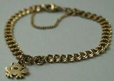 *Retired* James Avery 14k Gold FROG CHARM + Light Double Curb Charm Bracelet