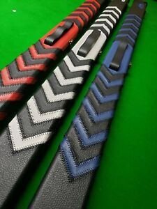 Pool Snooker Cue Case 3/4 Peradon quality Arrows Coloursred white blue NEW
