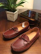 Sebago Handcrafted Brown Leather Moccasin Loafers Slipper Shoes Footwear 10.5
