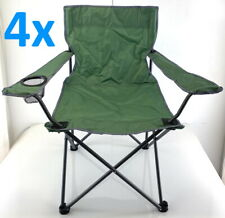4x Folding Outdoor Canvas Chair Camping Fishing Caravan Beach Balcony Party BBQ