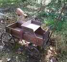 Rare Vintage Acme Wood Wagon Goat Childs Pony Wood Wheels A Real Beauty !