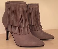 New Look Faux Suede Tassel Boots.  Size 6.  BNWT.