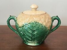 Antique ETRUSCAN Majolica GRIFFIN SMITH HILL Cauliflower Handled Sugar Bowl
