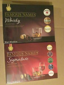 NEW 2X FAMOUS NAMES CHOCOLATE LIQUEURS, TEACHER'S WHISKY, COINTREAU, JIM BEAM,