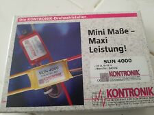 kontronik SUN 4000 brushed motor control new open box 35a 16x