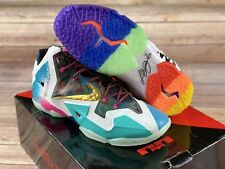 "the best attitude 42971 9c21d New Nike LeBron XI Premium ""WHAT THE"" Mens Size 14 650884 400 NIB DS"