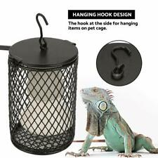 Reptile Heat Lamp with Guard, Ceramic Heat Emitter Basking Heater Lamp for
