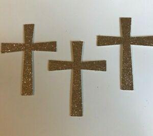 Cake Topper Cupcakes Set of 6 Crosses/Baptism/Easter/Holy Communion/Christening