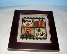BENT CREEK GIVING THANKS TURKEY PUMPKIN COMPLETED CROSS STITCH PICTURE FRAMED